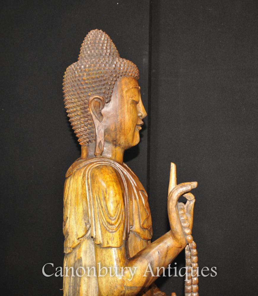 large hand carved tibetan buddha statue buddhism tibet. Black Bedroom Furniture Sets. Home Design Ideas