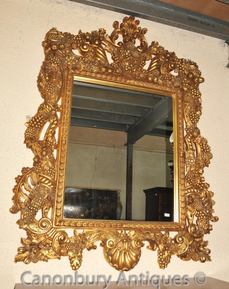 Large Louis XVI Pier Mirror Gilt Frame Glass Mirrors   eBay