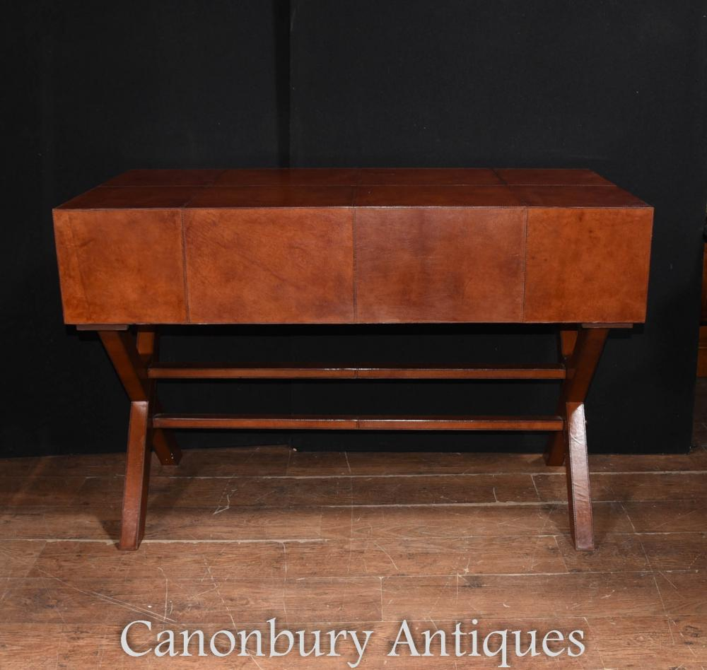 Antique Leather Sofa Northern Ireland: Leather Campaign Desk And Chair Set Writing Table Luggage