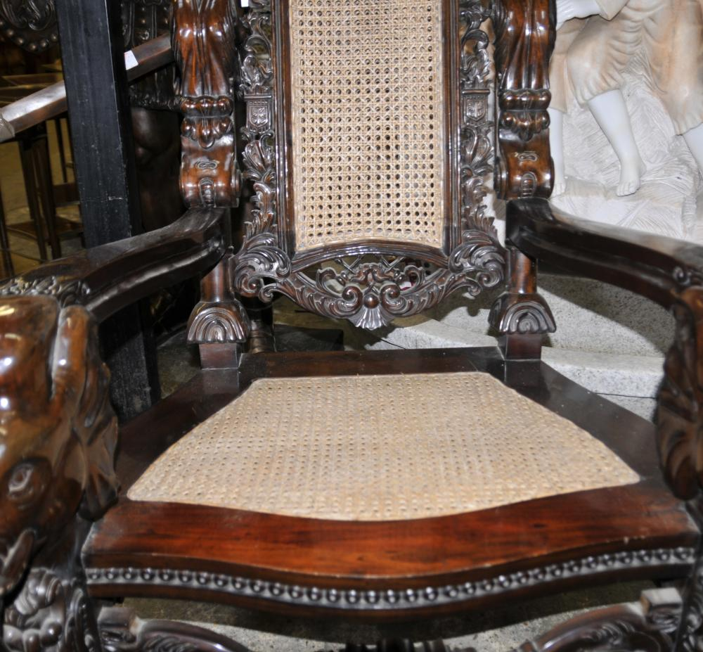 Lord Raffles Gothic Arm Chairs Throne Chair Hand Carved