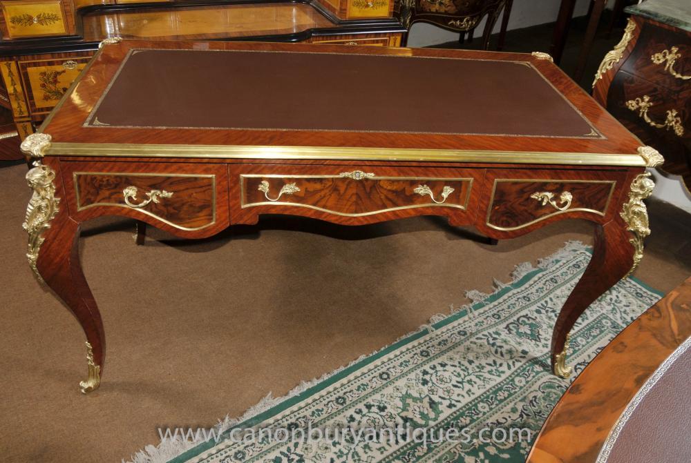 Louis XVI Desk Writing Table Bureau Plat French Office Furniture