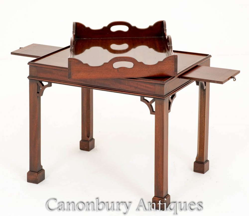 Coffee Table With Tray Top: Mahogany Chippendale Coffee Table Tray Top