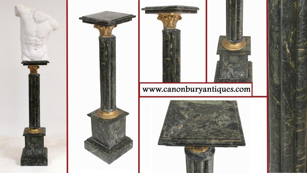 Französischer Säulentisch aus Marmor Pe