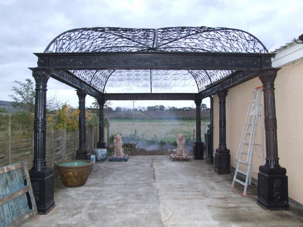 - Massive Victorian Cast Iron Gazebo Arbor Architectural Garden Casting