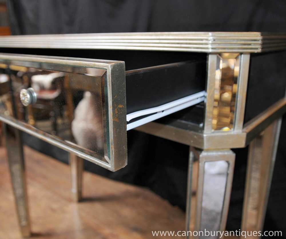 Hall Side Table mirrored hall console table side tables mirror deco furniture | ebay