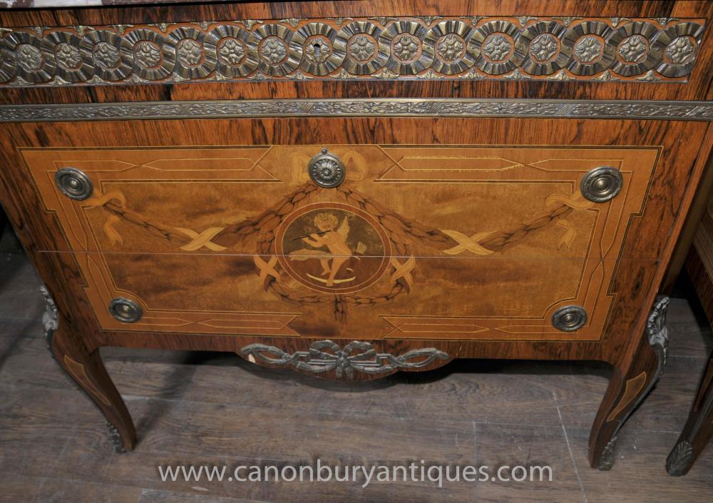 empire kitchen cabinets pair empire antique chests commodes cherub inlay 3562