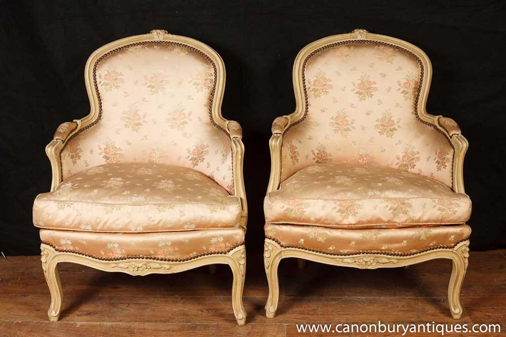 Pair Victorian Arm Chairs Sofa Chair Upholstered Fauteils