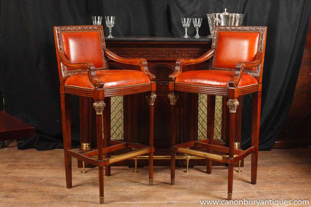 Fine Pair Victorian Mahogany Bar Stools Seats Inzonedesignstudio Interior Chair Design Inzonedesignstudiocom