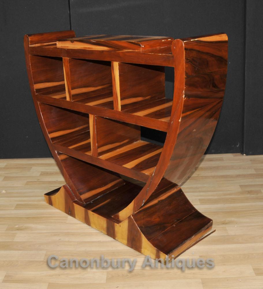 Pair Art Deco Bookcases Shelf Units Retro Furniture Ebay