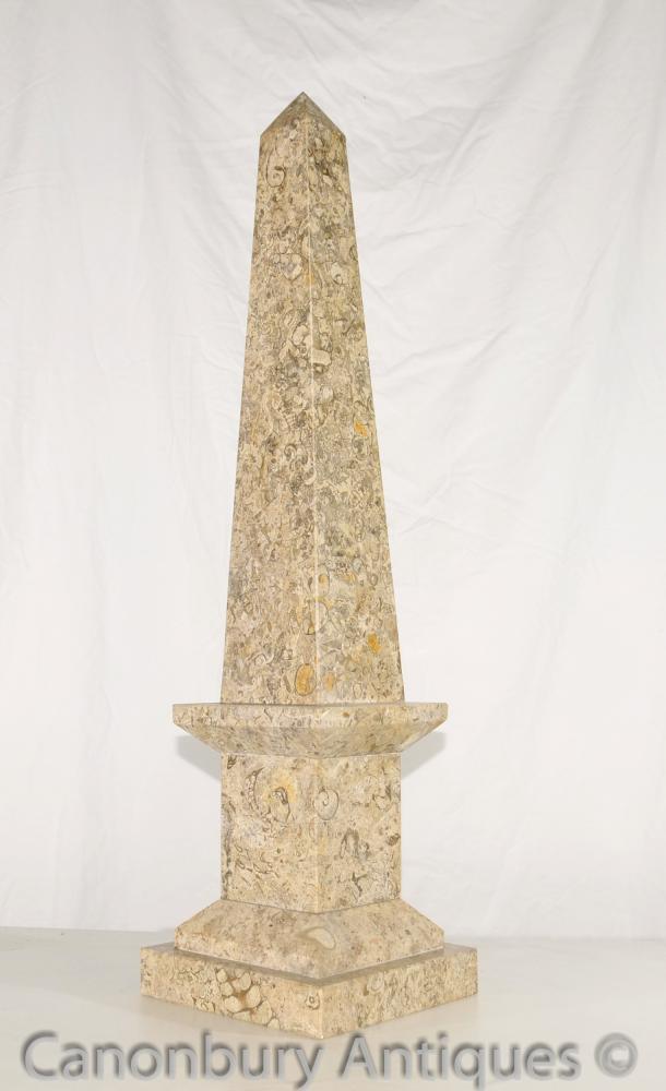 Pair french empire marble obelisks egyptian obelisk