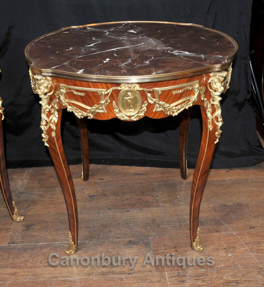 Marble Coffee Table Ebay Uk: Pair French Empire Side Tables Cocktail Table Ormolu
