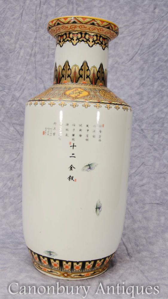 Pair Japanese Satsuma Porcelain Vases Urns Geishas Ceramic Ebay