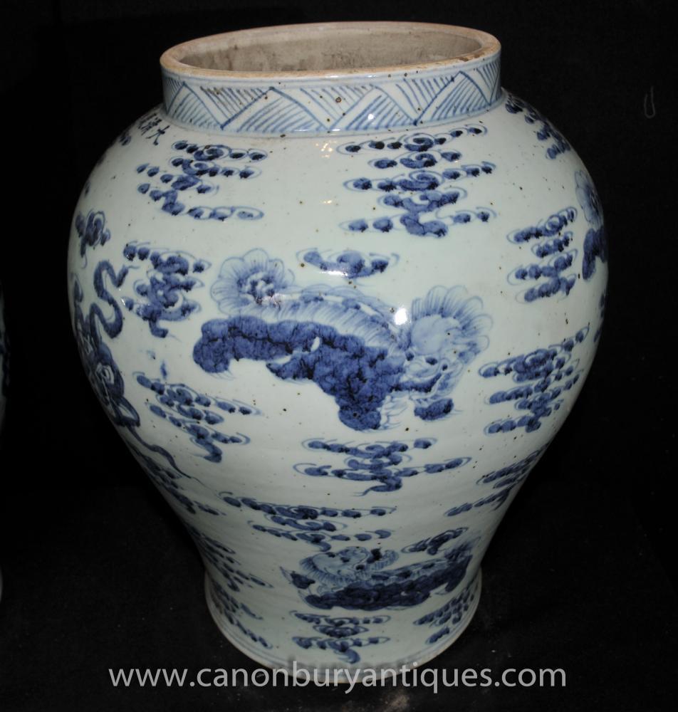 pair jingdezhen blue and white chinese porcelain ginger. Black Bedroom Furniture Sets. Home Design Ideas