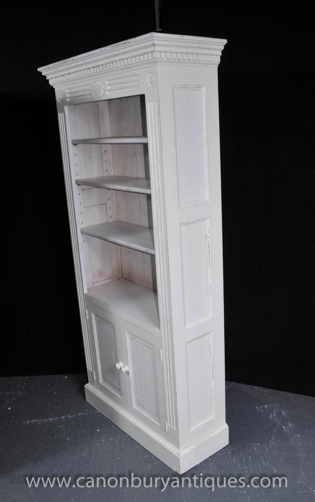 Pair Painted Kitchen Oak Dresser Cabinets Potboard