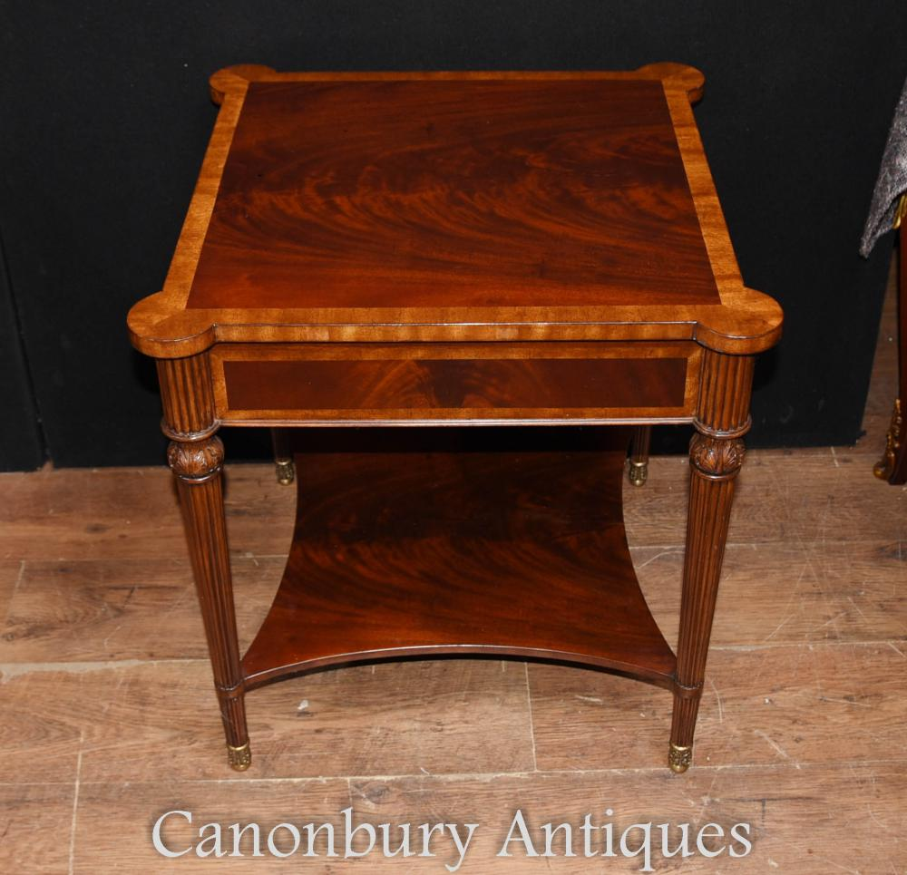 Pair regency mahogany side tables cocktail table ebay for Cocktail table 47