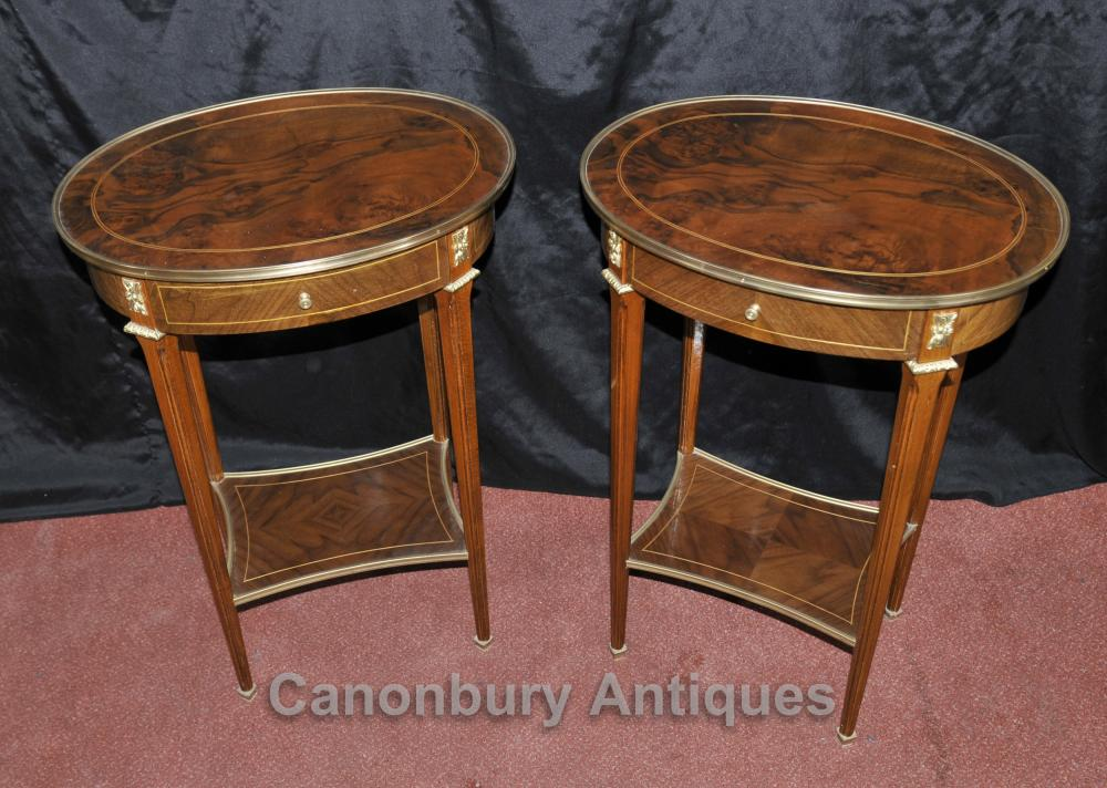 Pair Regency Side Tables Cocktail Table English Furniture