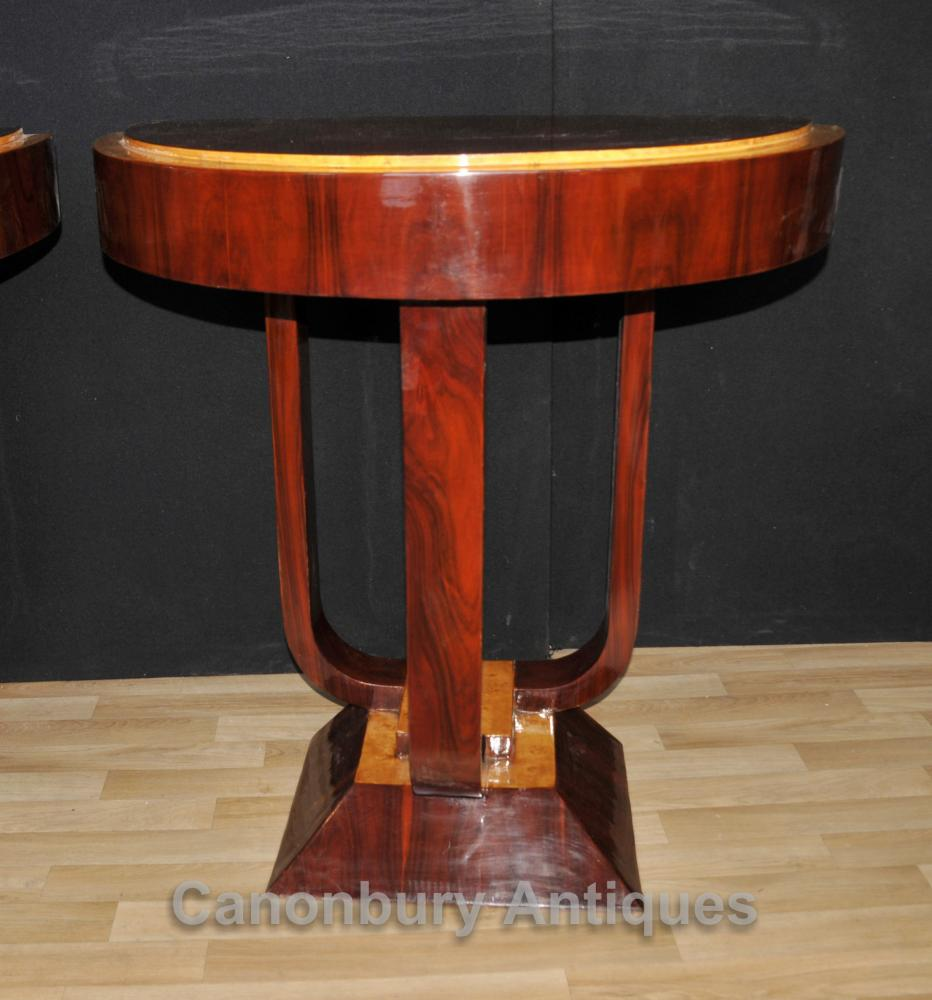 Art Deco Foyer Table : Pair rosewood art deco console tables hall table modernist