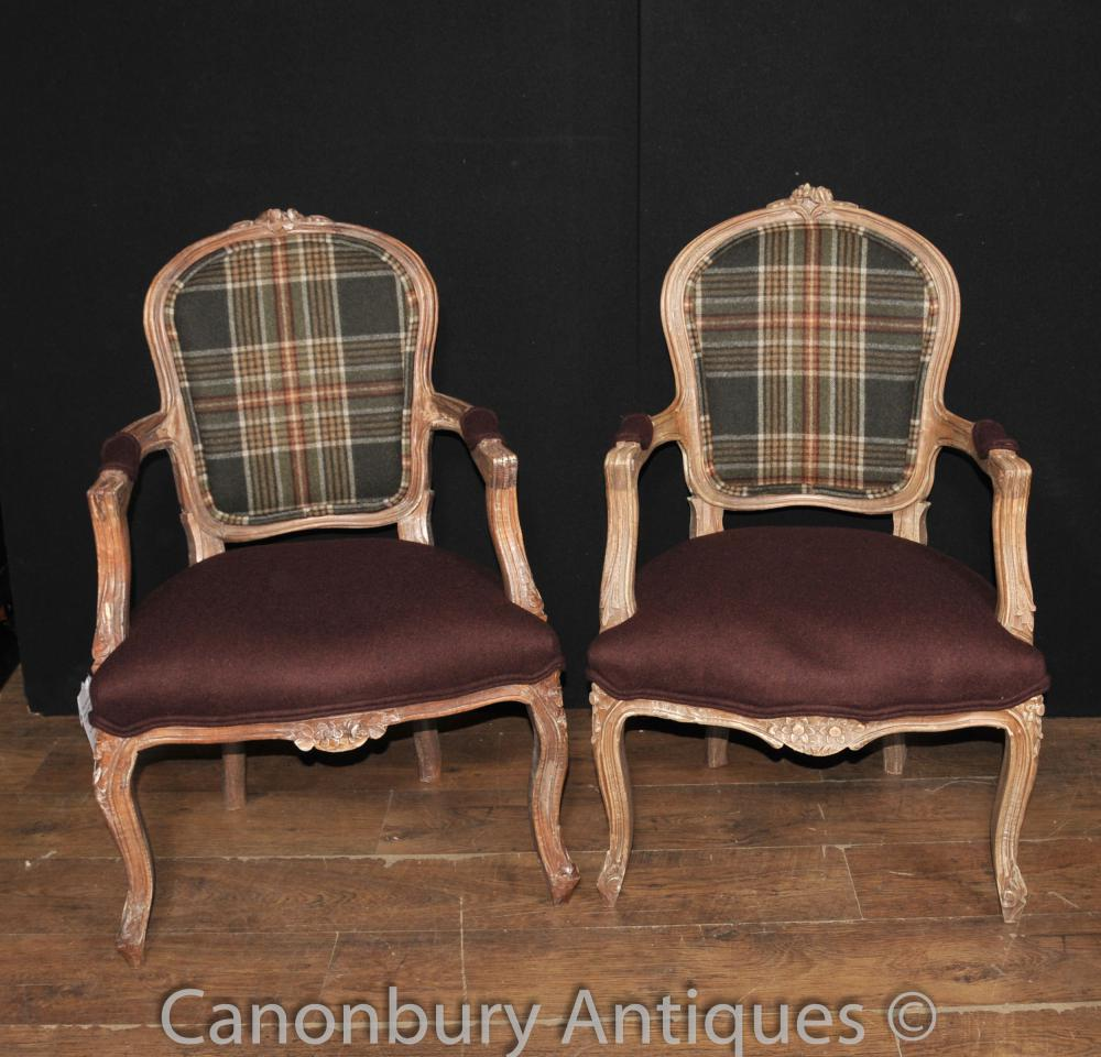pair victorian tartan arm chairs chair fauteuil. Black Bedroom Furniture Sets. Home Design Ideas