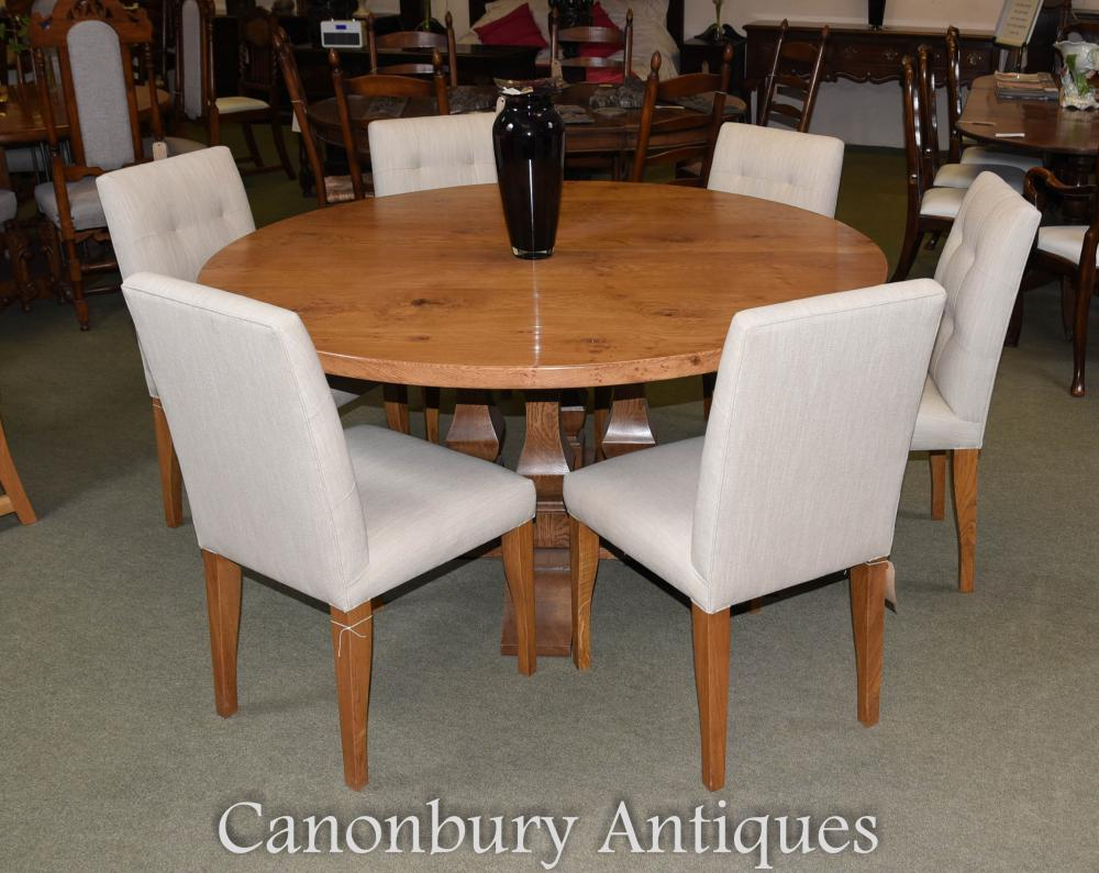 Pippy Oak Kitchen Refectory Table And Chair Set Farmhouse
