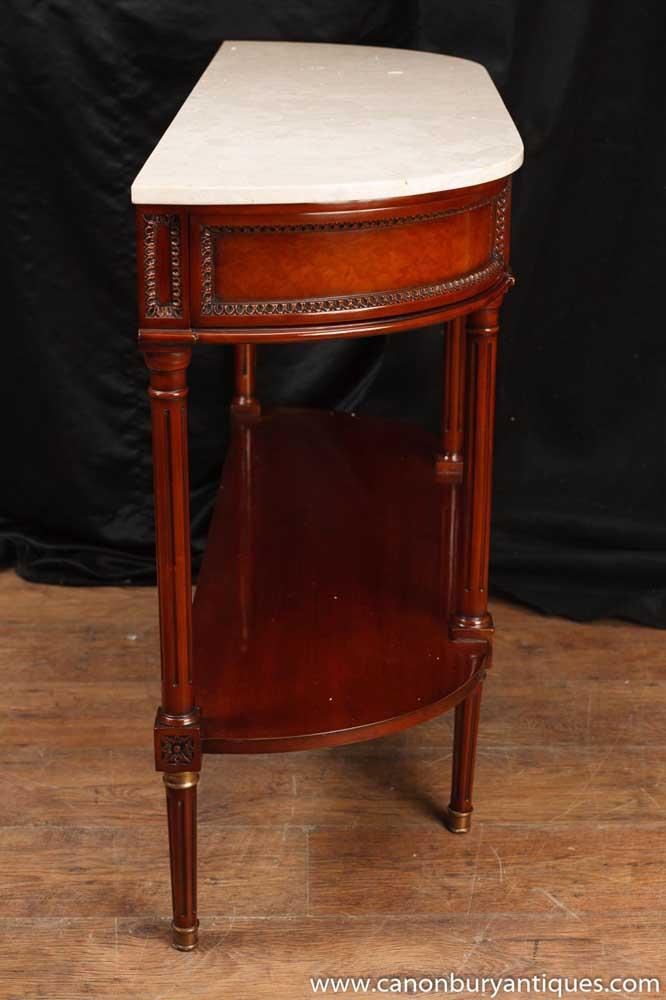 Regency Console Table Mahogany Marble Top Sofa Hall Tables