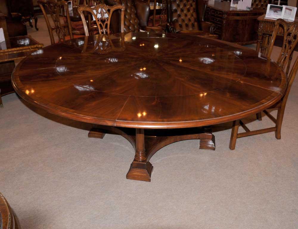 regency extending jupe round dining table centre tables jupes. Black Bedroom Furniture Sets. Home Design Ideas