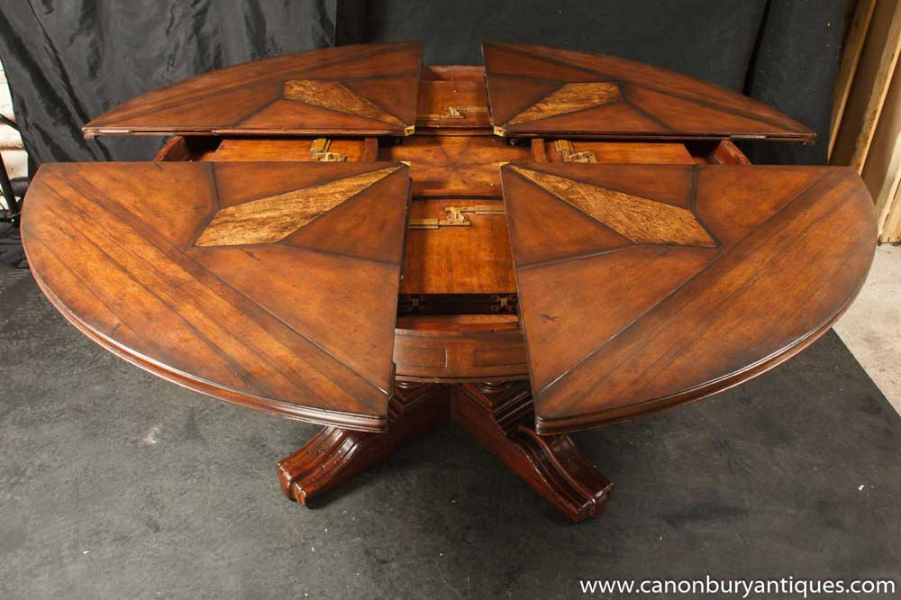 Regency Jupes Dining Table Expanding Round Centre Table