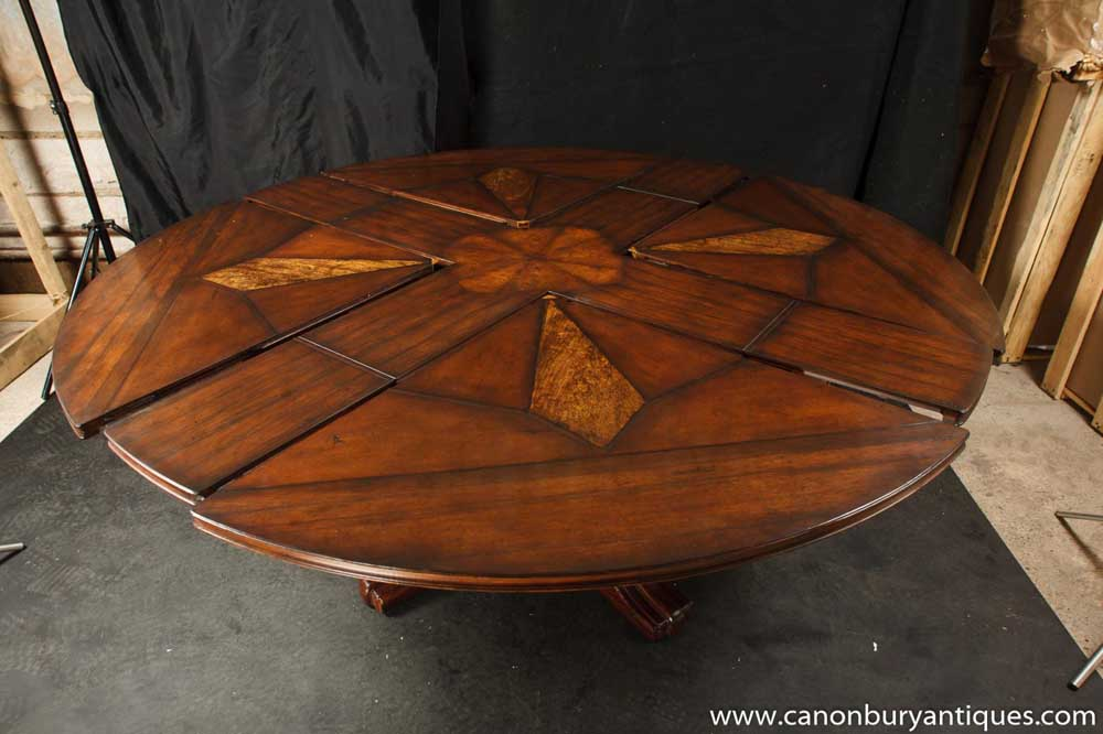 details zu regency jupes dining table expanding round centre table