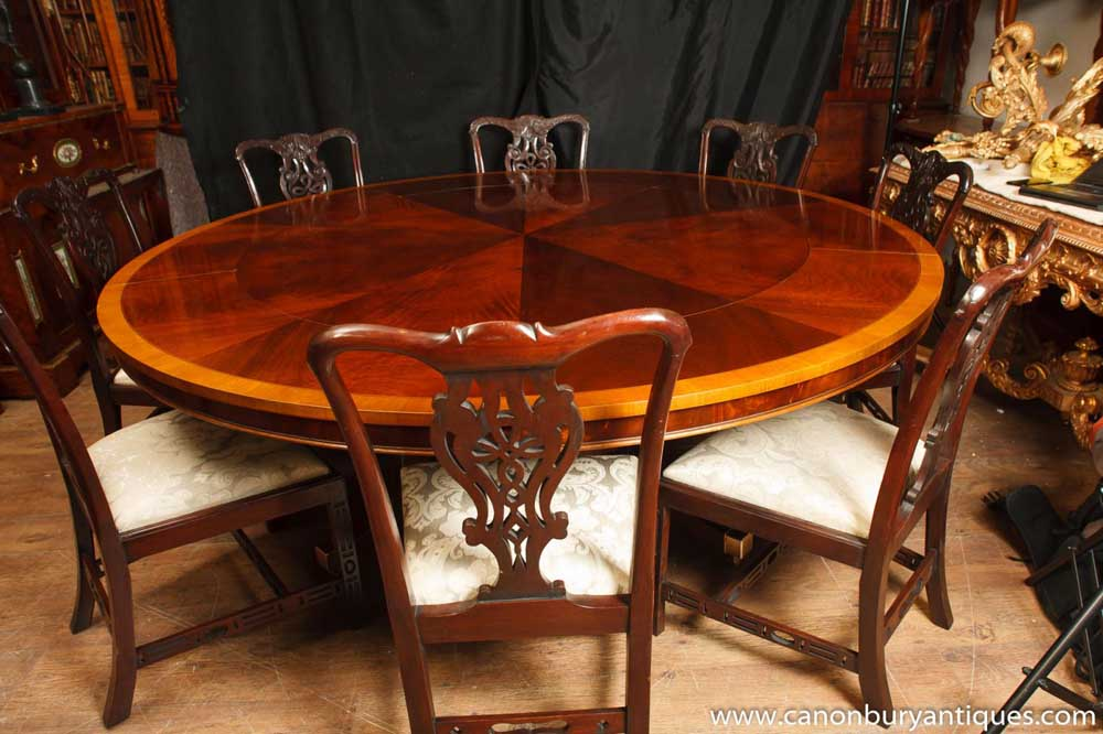 Regency Jupes Table Flame Mahogany Extending Dining Tables