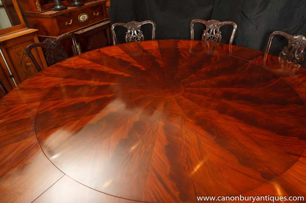 Regency Jupes Table Round Expanding Dining Tables Jupe
