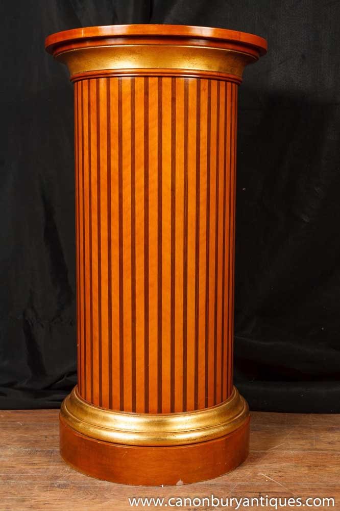 Regency Pedestal Table Column Support Classical Antiquity