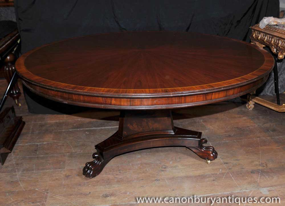Regency round centre table dining tables rosewood for Round table 85 ortenau
