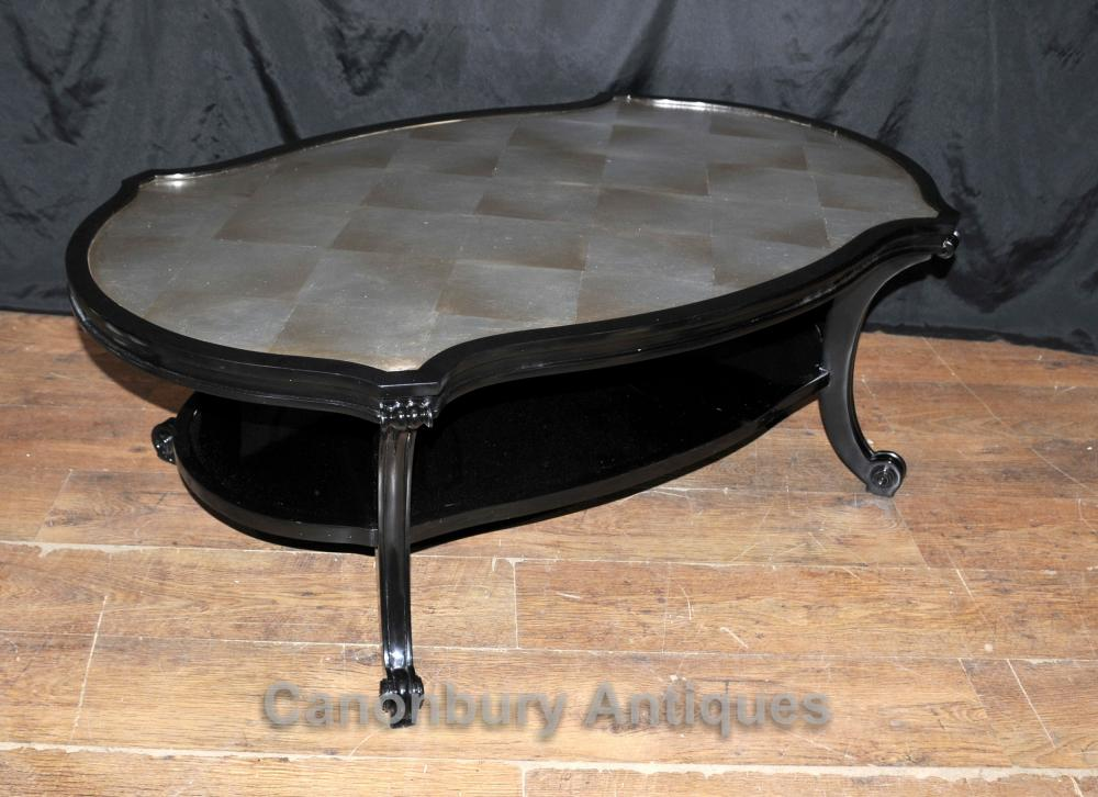 Regency Black Lacquer Coffee Table Furniture Interiors Ebay