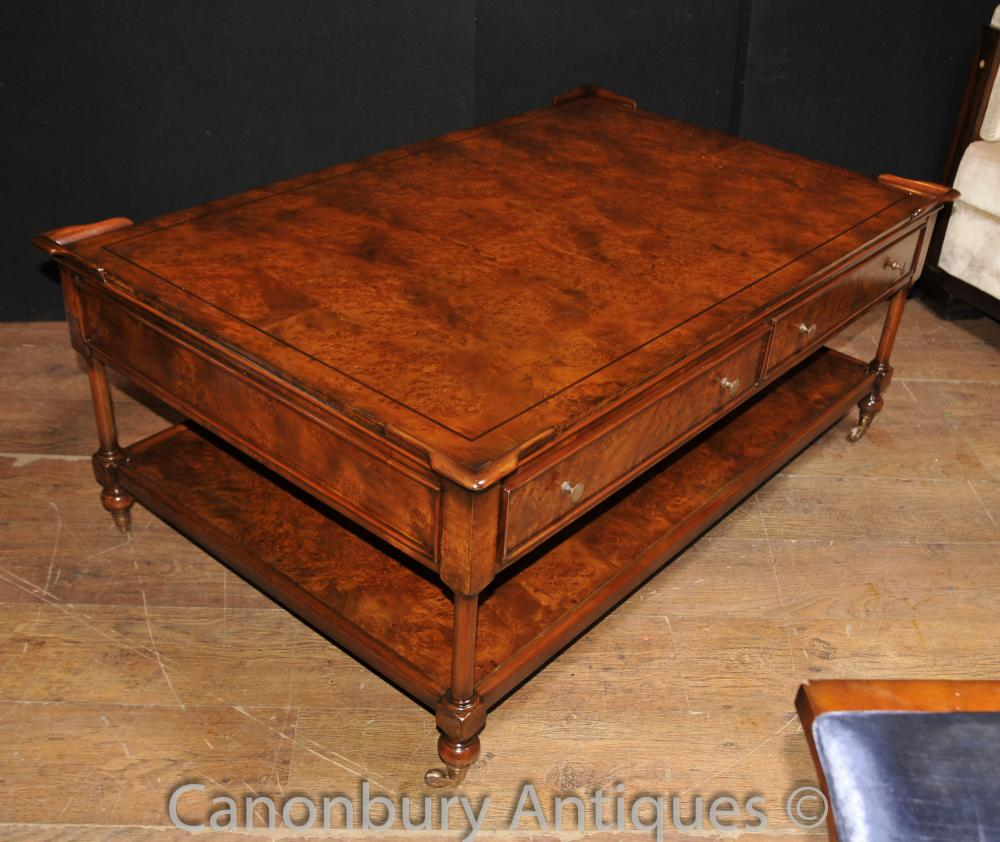 Regency Coffee Table Burr Walnut Tables Furniture