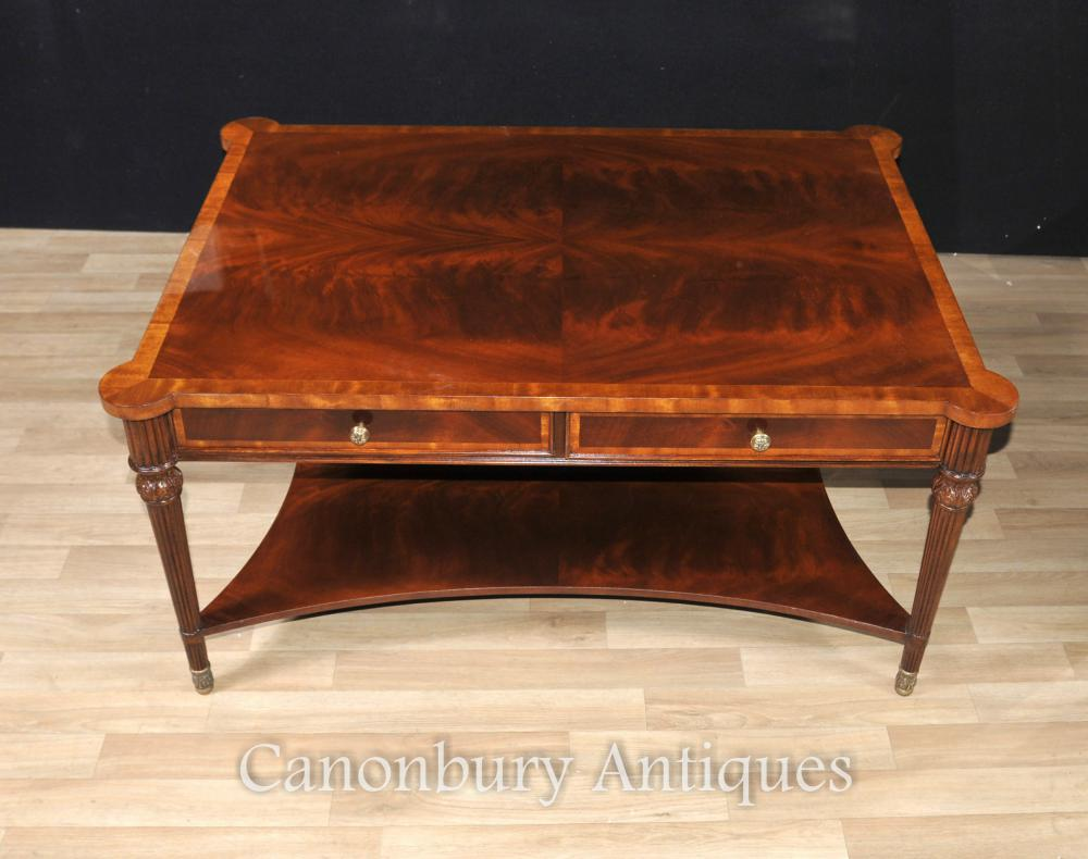 Regency coffee table flame mahogany tables english furniture for Mahogany coffee table