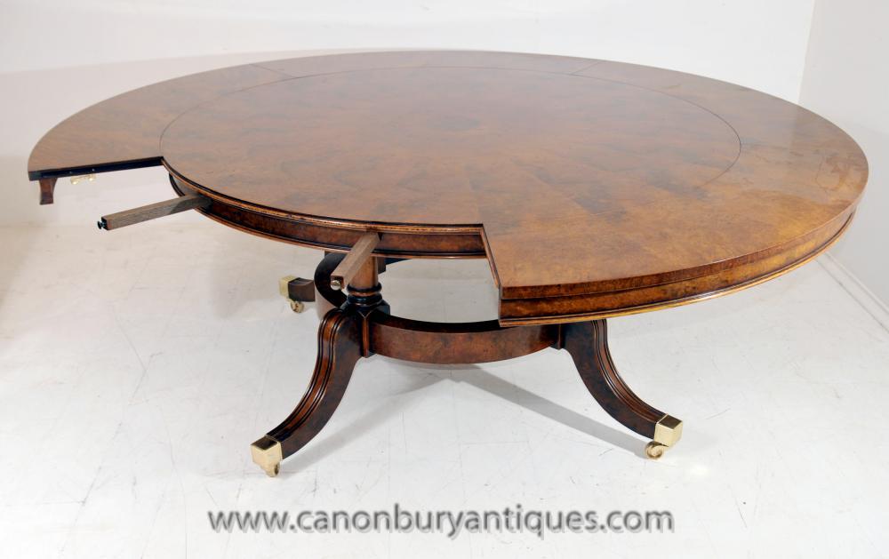 28 walnut round extending dining table walnut regency jupe