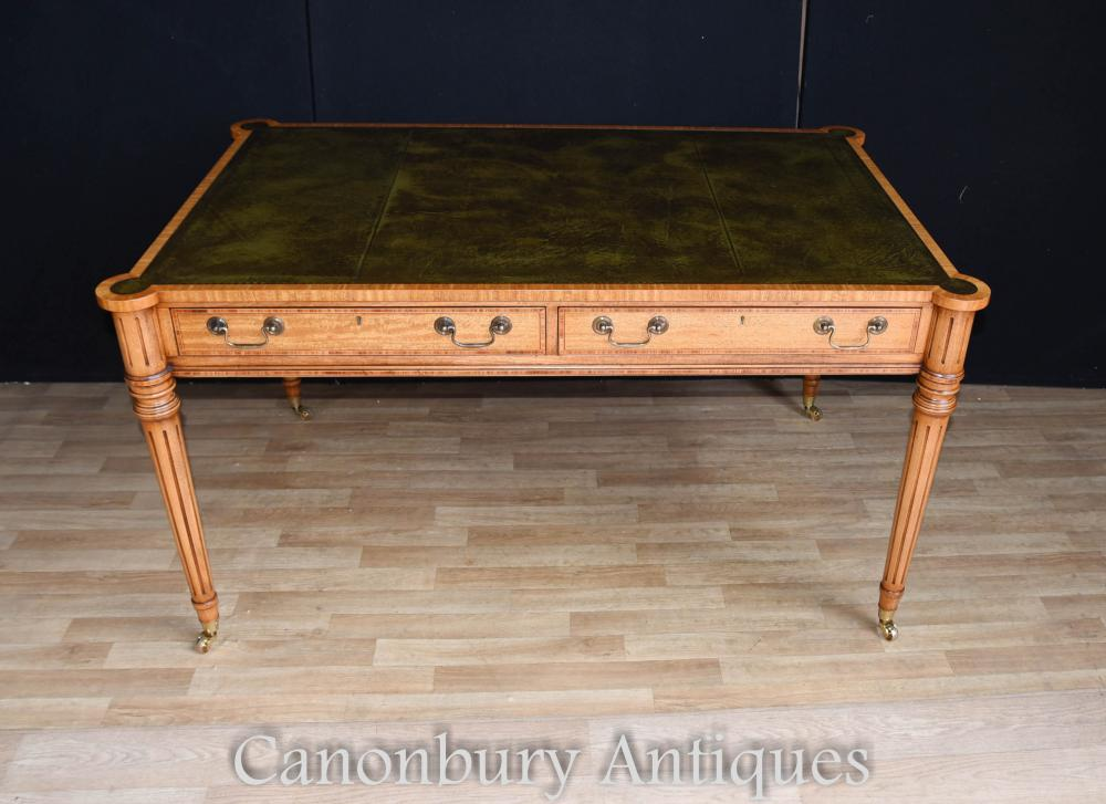 regency gillows writing table desk leather top bureau. Black Bedroom Furniture Sets. Home Design Ideas