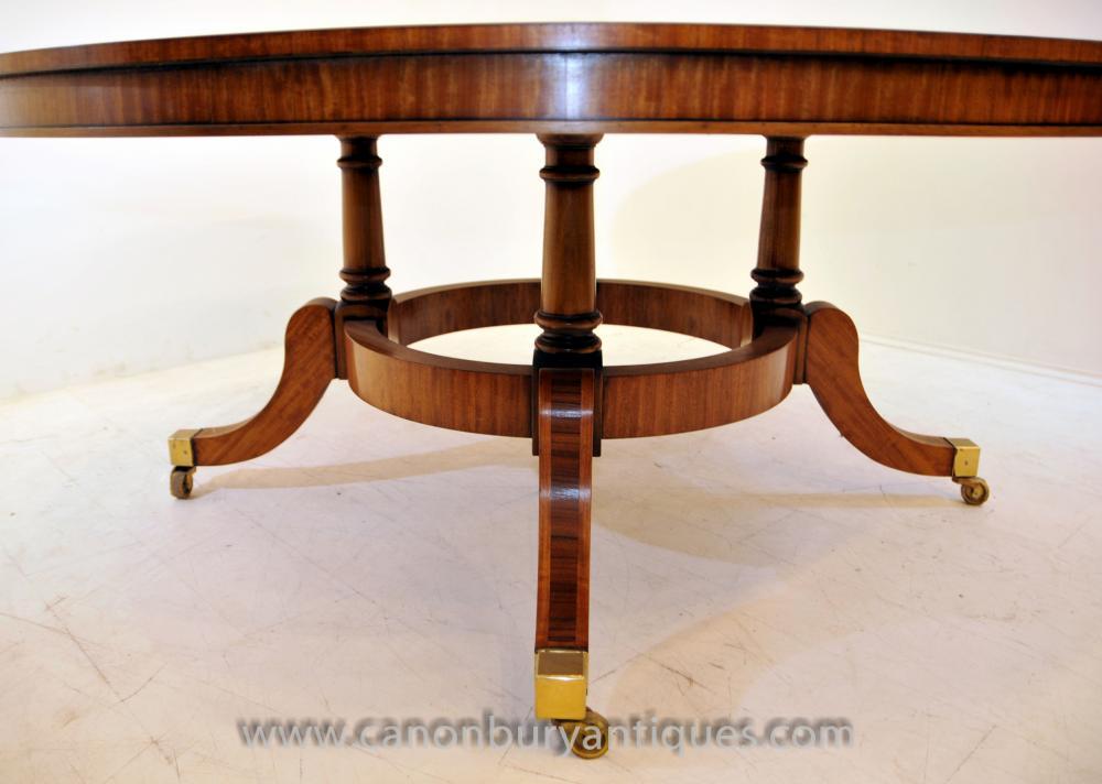 Regency Hepplewhite Centre Table In Satinwood Dining Tables
