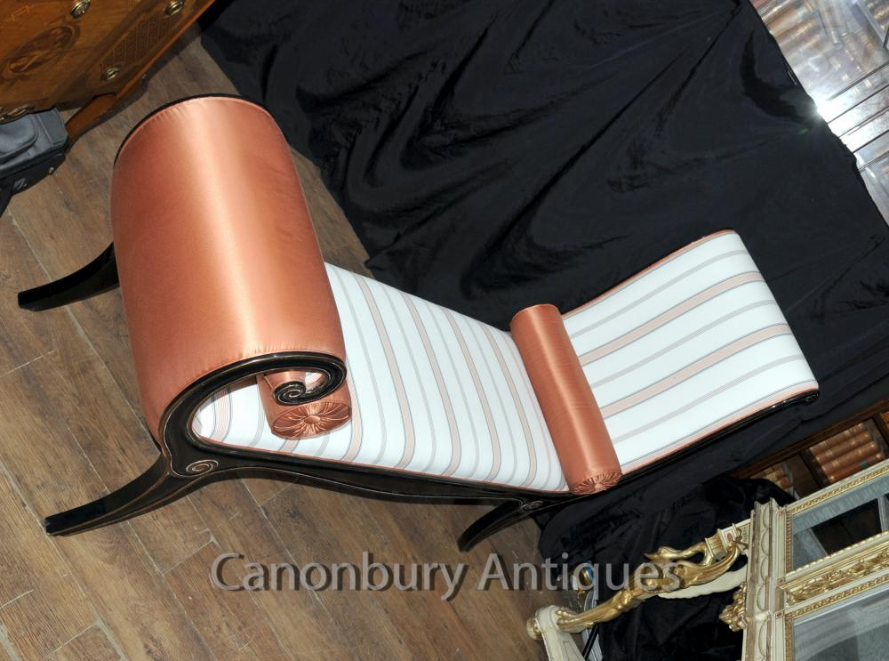 Regency lacquer chaise longue day bed sofa ebay for Chaise longue day bed