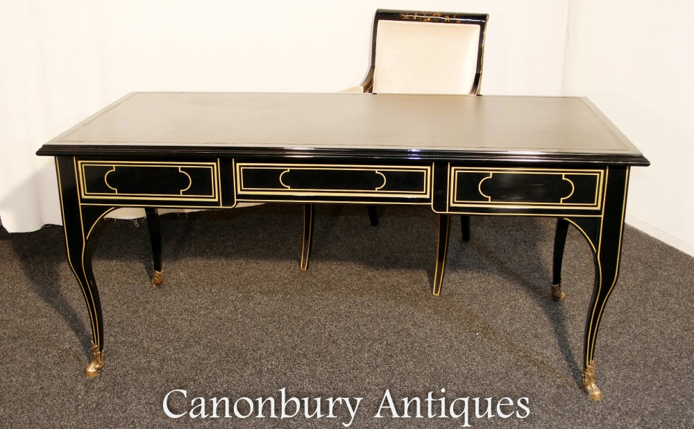 Amazing Details About Regency Lacquer Desk And Chair Set Bureau Plat Writing Table Onthecornerstone Fun Painted Chair Ideas Images Onthecornerstoneorg