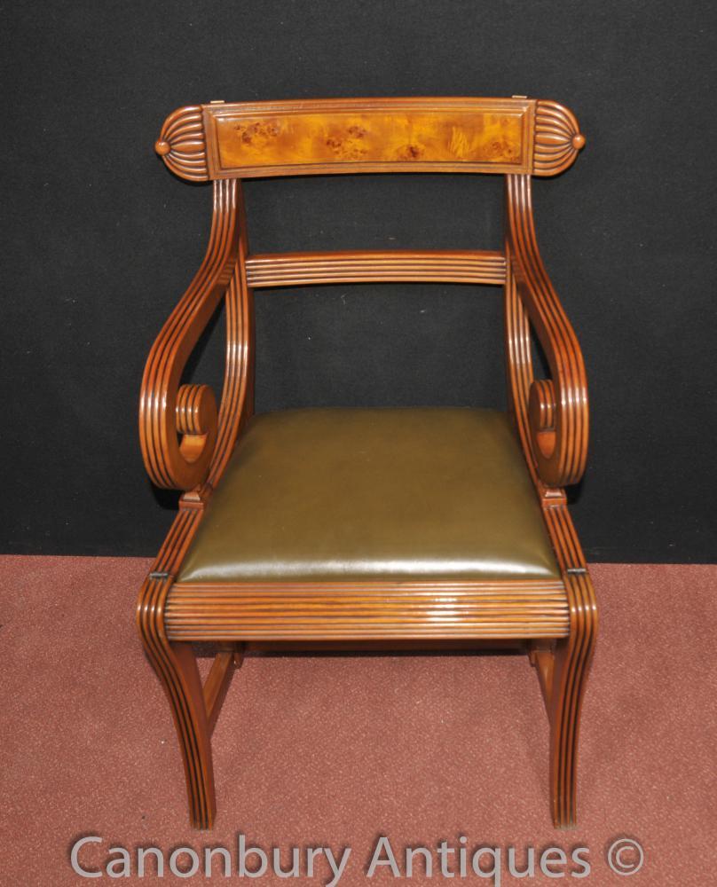 Regency Metamorphic Chair Library Steps Ladder Walnut Arm