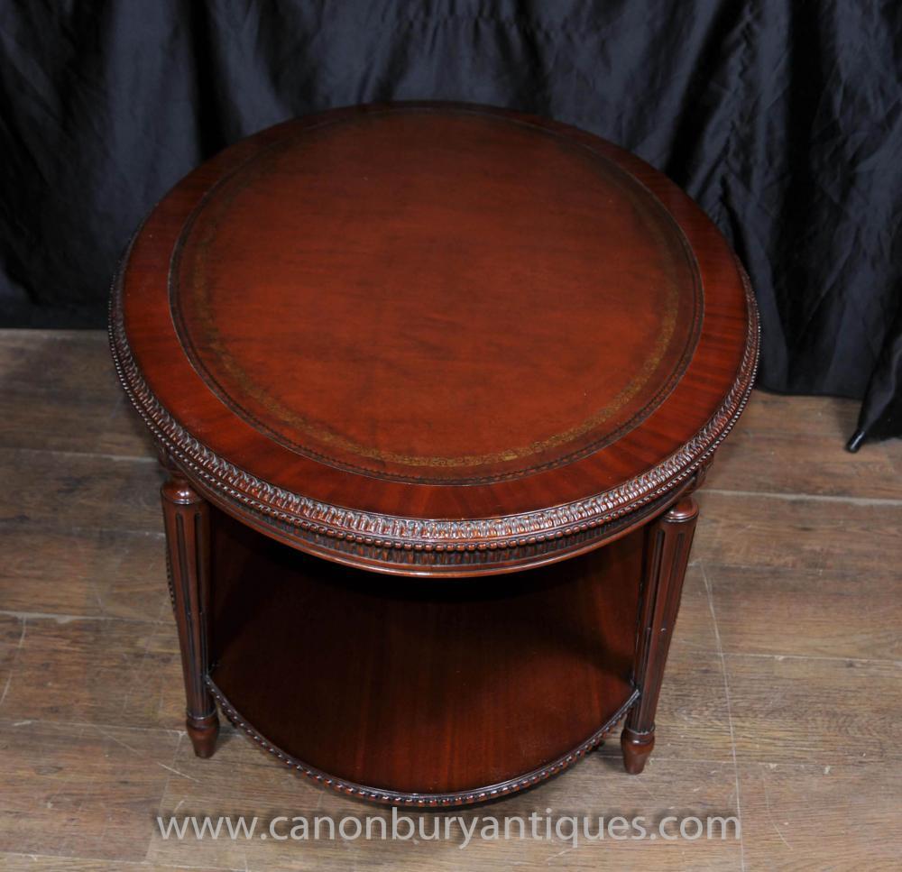 Oval Coffee Table Mahogany