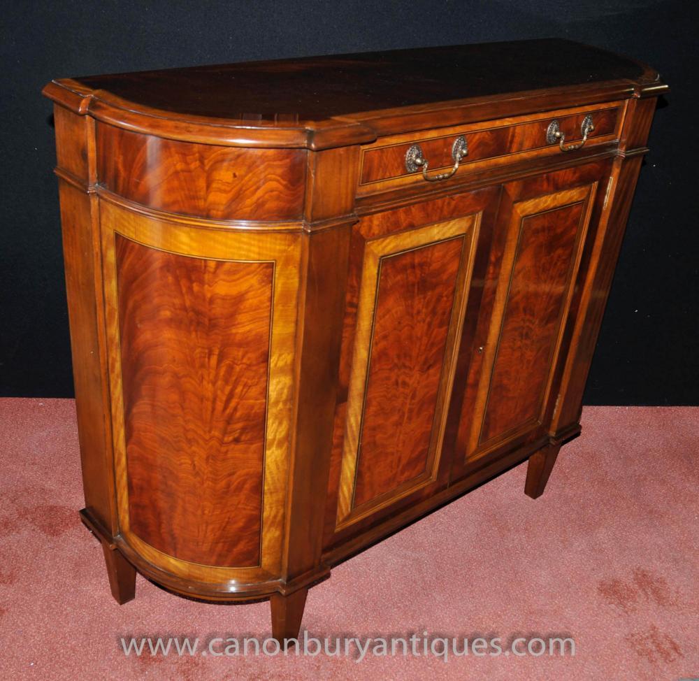 regency sideboard flame mahogany satinwood buffet server hutch. Black Bedroom Furniture Sets. Home Design Ideas