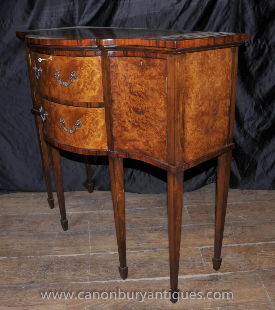 Regency: Regency Walnut Brandy Sideboard Server Buffet