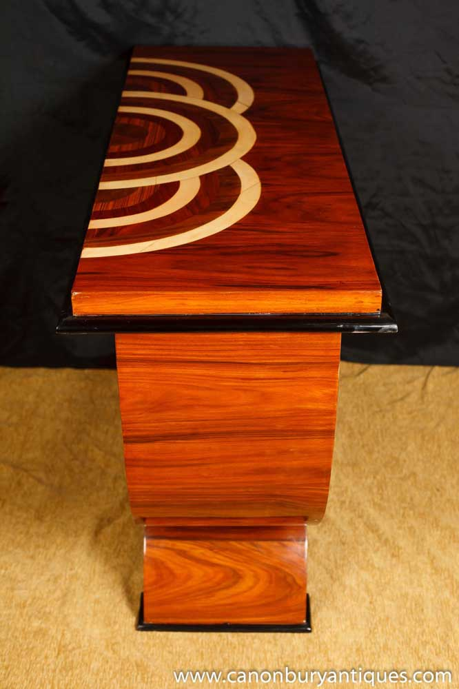 Rosewood Art Deco Oggee Console Table 1920s Furniture Hall