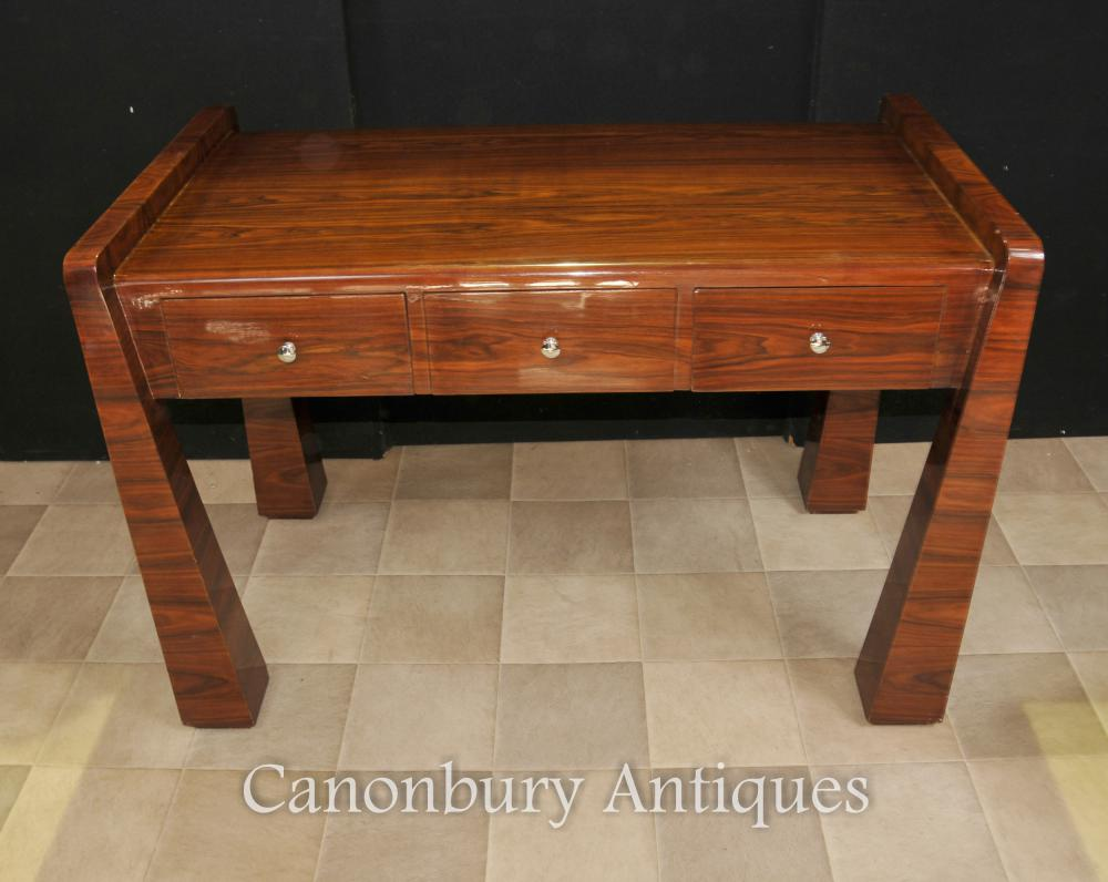 Rosewood art deco desk 1920s office furniture writing table for Deco meuble furniture richibucto