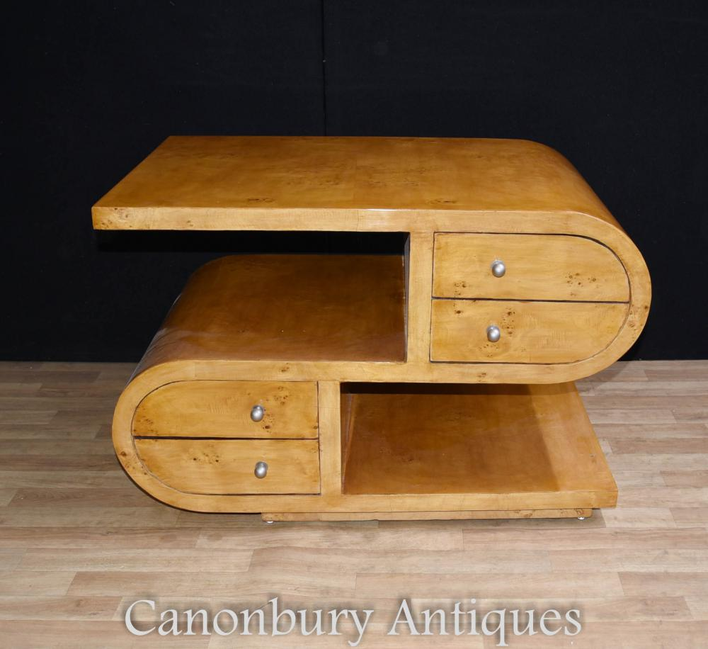 s shape art deco coffee table cocktail tables 1920s furniture. Black Bedroom Furniture Sets. Home Design Ideas