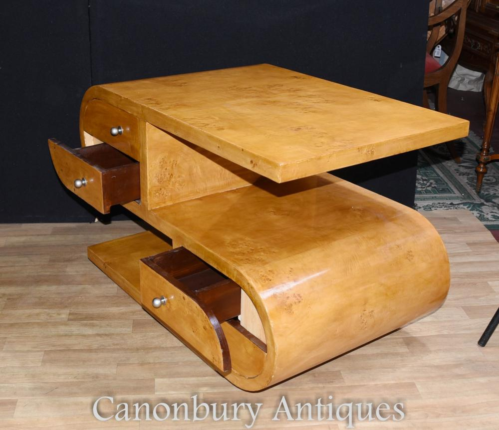 S shape art deco coffee table cocktail tables 1920s furniture ebay additional images geotapseo Gallery