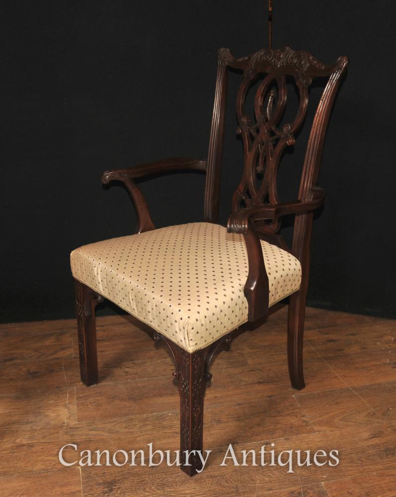 Juego 10 Sillas De Comedor Chippendale De Caoba Muebles Ingleses  # Muebles Justo O Grove