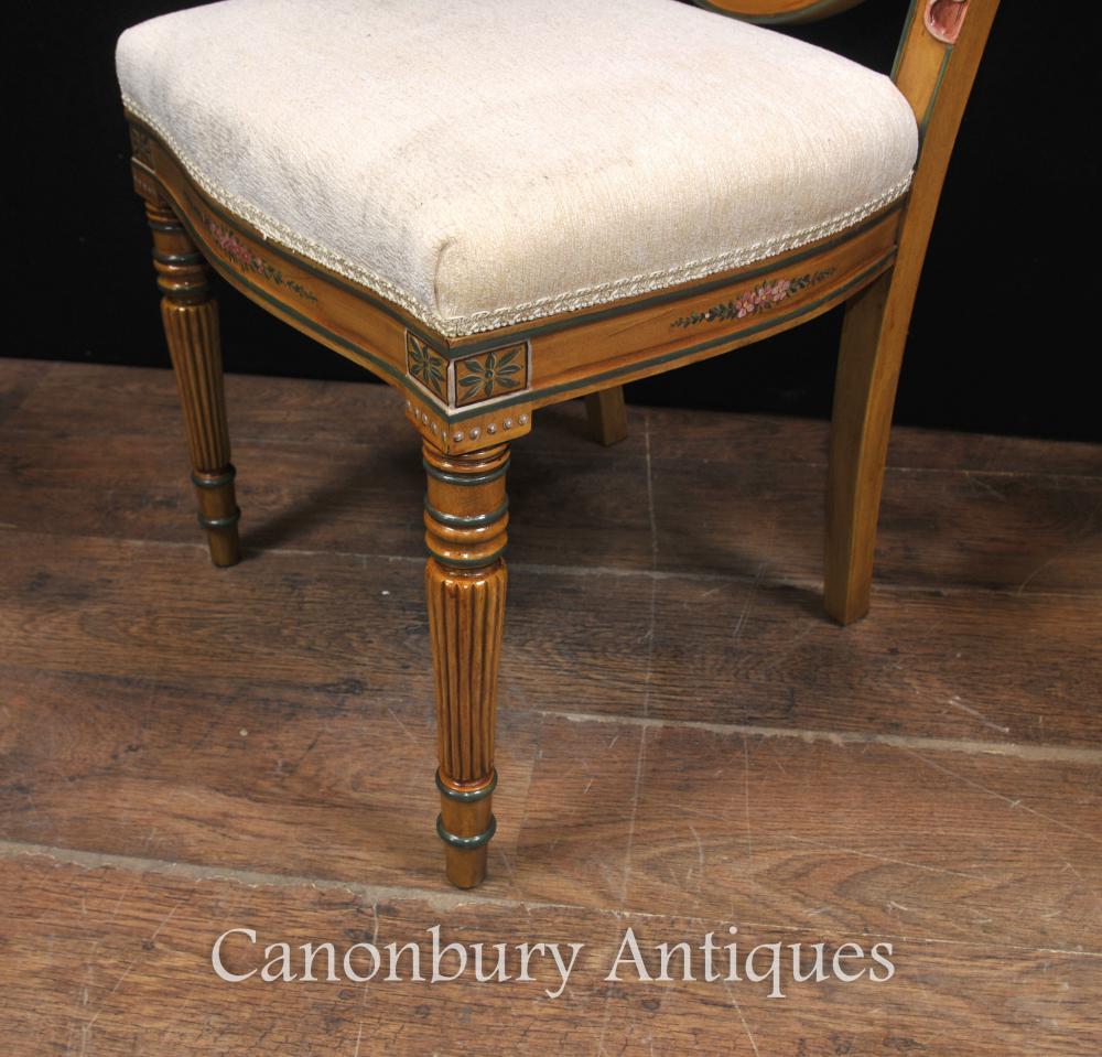 Conjunto De 8 Cadeiras De Jantar Brosimum Landiferum Hepplewhite  # Muebles Estilo Hepplewhite