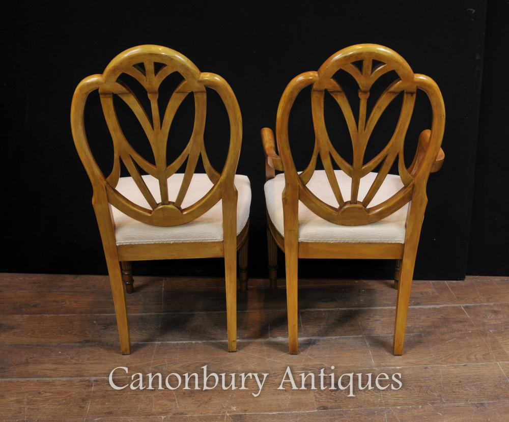 This hand painted hepplewhite style chairs is no longer available - Additional Images